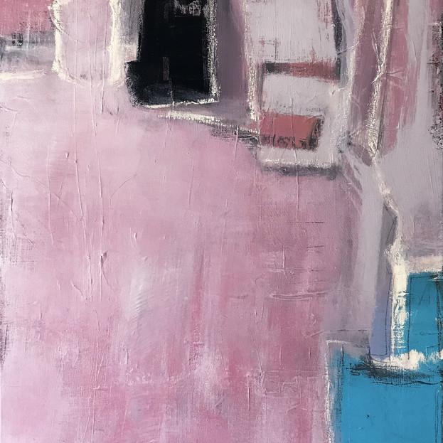"""Pink Tattoo""  (framed canvas)"