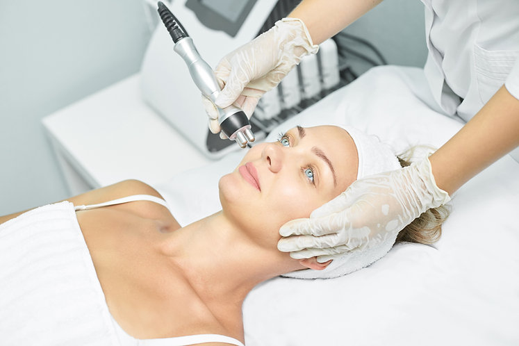 Dermatology skin care facial therapy. Me