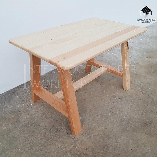 Big-A Table  (ขาไม้สนสวีเดน)