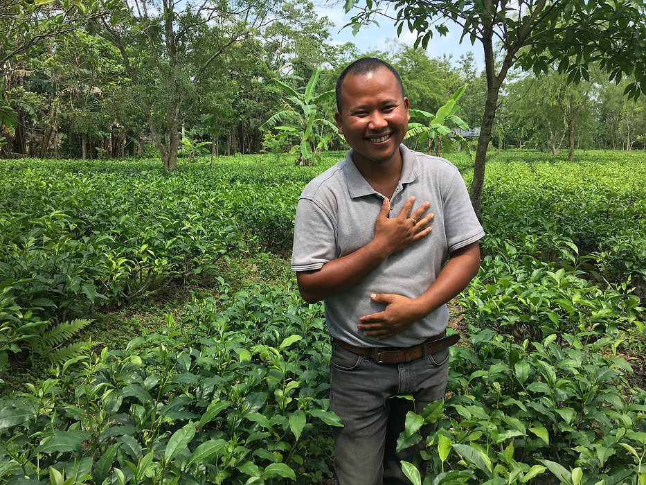 Certified plantation farmer Tenzing Bodo
