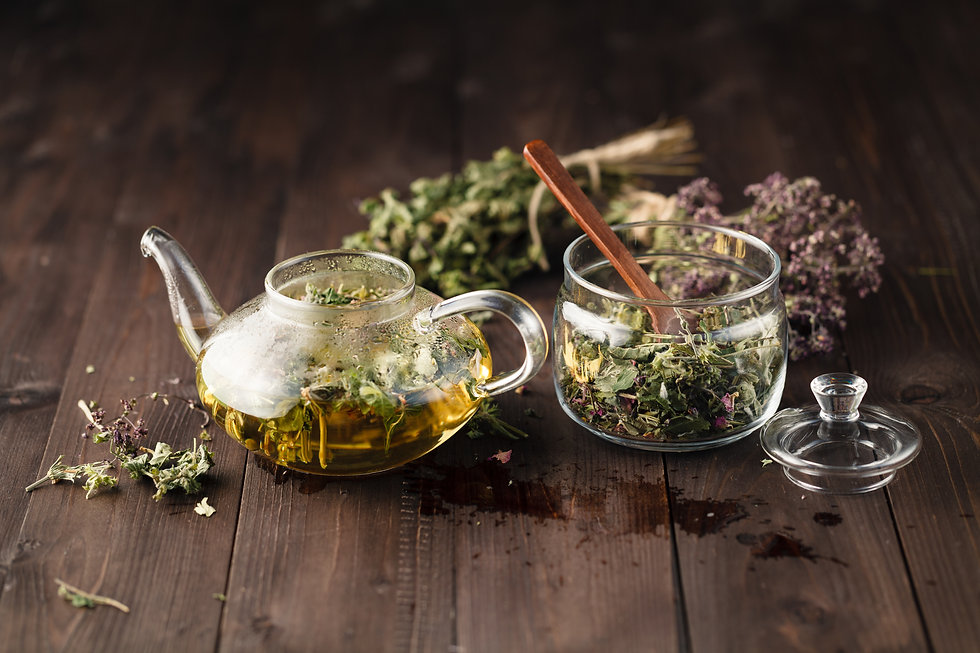 Dried herbals for tea and breawed medici