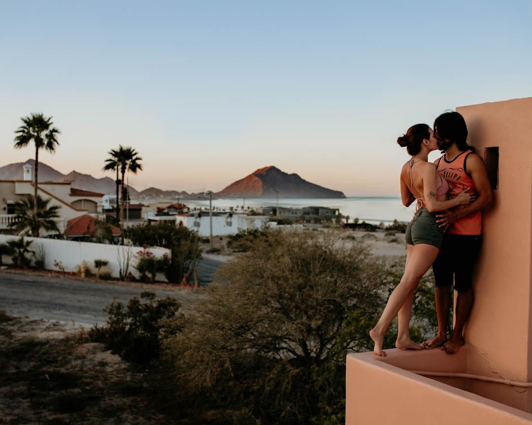 Rooftop Kisses, San Felipe, Baja Mexico