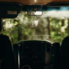 the disco ball in the van