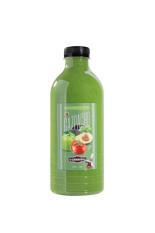 Gazpacho de aguacate, manzana y albahaca 1L