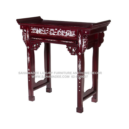 AL01100511.1โต๊ะไหว้บรรพบุรุษ โต๊ะบูชาเทพ Mother of Pearl Inlay wooden console