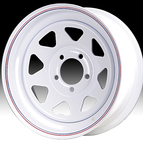 16 x 6 White Spoke Wheel