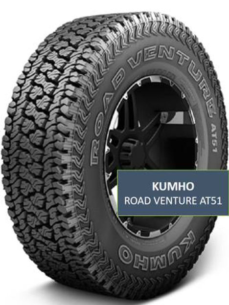 Set of 4 - LT285/75/16 NEW Kumho Road Venture AT51 Tires