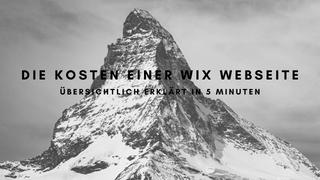 Kosten einer WIX Website - Übersicht in 5 Minuten