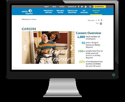 Desktop Computer Image of Website Careers Page