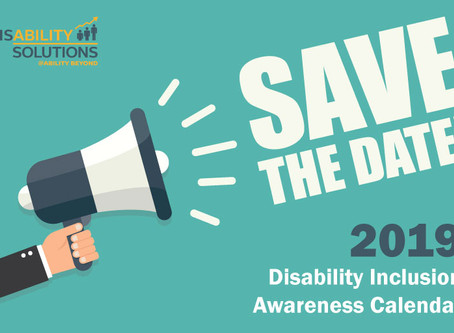 2019 Disability Inclusion Awareness Calendar