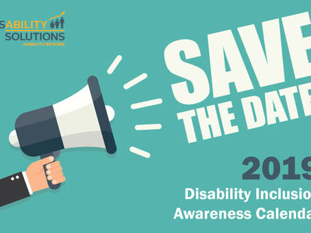 2019 Disability Inclusion Awareness Calendar