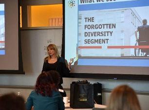 Julie Cook Sowash speaking at the BCGI Conference in San Francisco