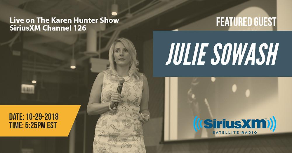 Julie Sowash, Live on the Karen Hunter Show, SiriusXM Radio Interview, 10-29-18, NDEAM