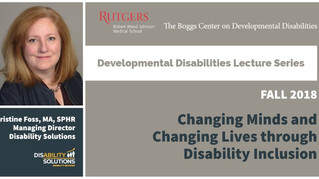 Rutgers Developmental Disabilities Lecture Series | Kristine Foss