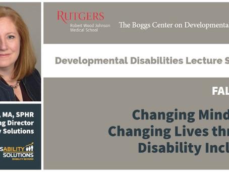 Rutgers Developmental Disabilities Lecture Series | Kristine Foss