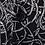 Thumbnail: Men's black n white party suit with knit details