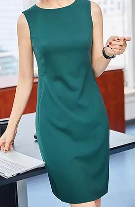 Green formal all occasion sleeveless sheath dress