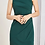 Thumbnail: Green star pleats tailored formal sheath dress, Green office dress
