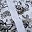 Thumbnail: Men's black n white floral button down shirt