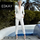 Thumbnail: Ladies white belted 2-piece pants suit