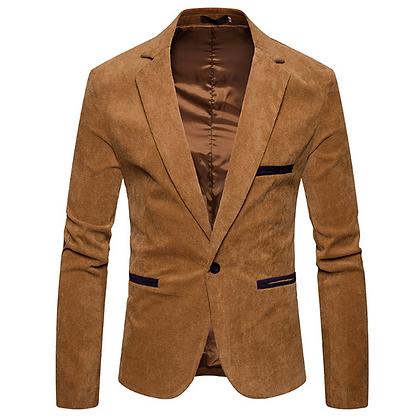Men's slim fit khaki brown party suit