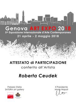 Attestato GENOVA ART EXPO 2018