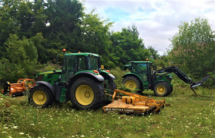 Topper and Loader Tractor