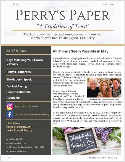Perry's Paper Monthly Newsletter