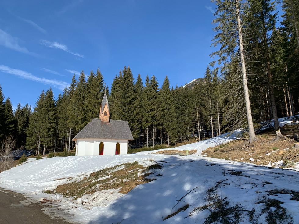 Ingeringsee im Winter Kapelle
