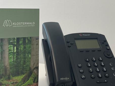 Neue Telefonnummer im Klosterwald Büro