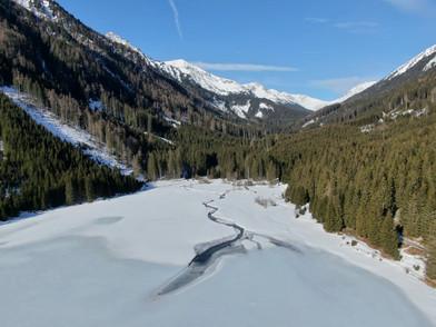 Ingeringsee im Winter Luftbild