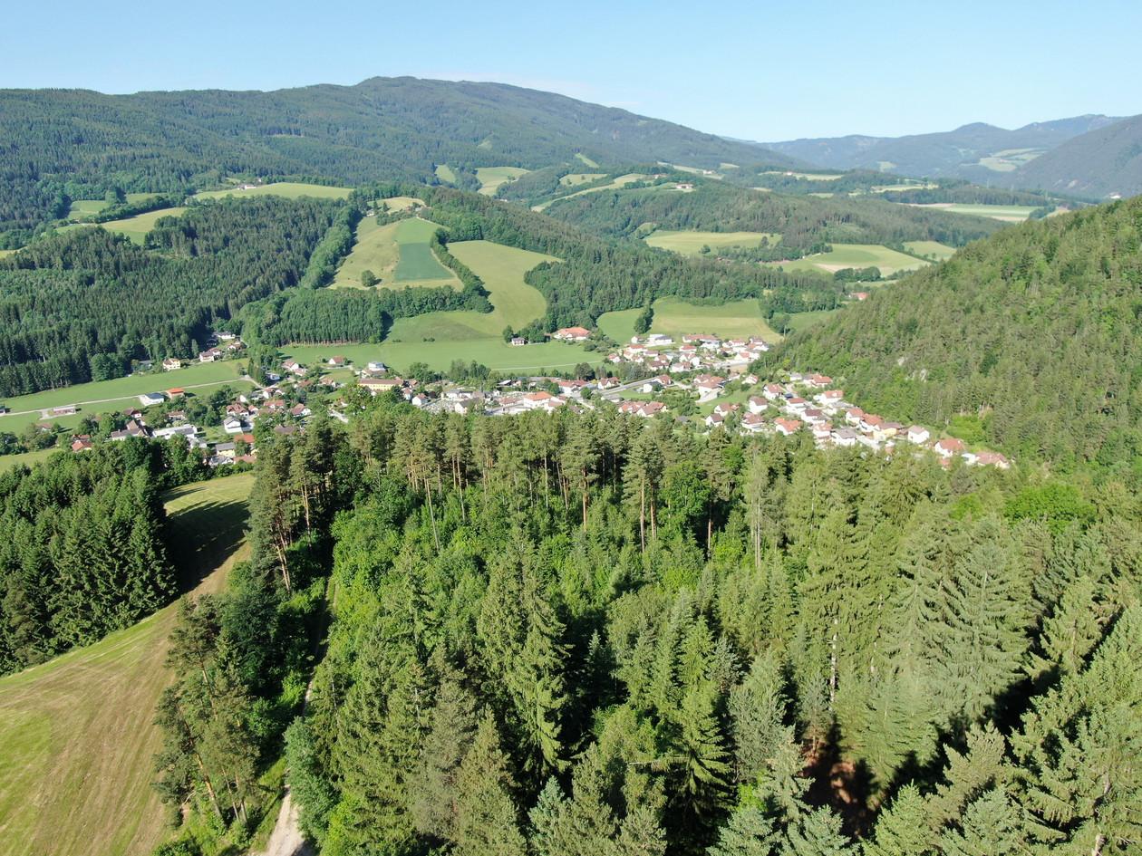 Kirchberg Luftbild im Sommer