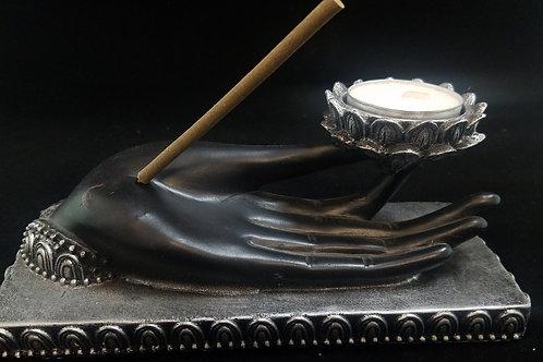 Ohm Incense-Tealight Holder