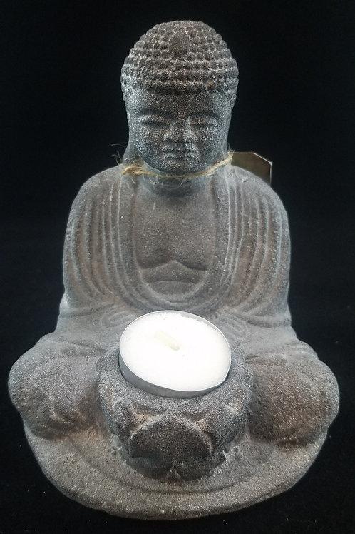 Stone-Carved Buddha Tealight Holder