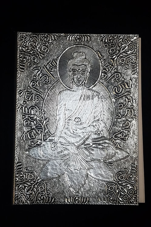 Silver Buddha Blank Journal