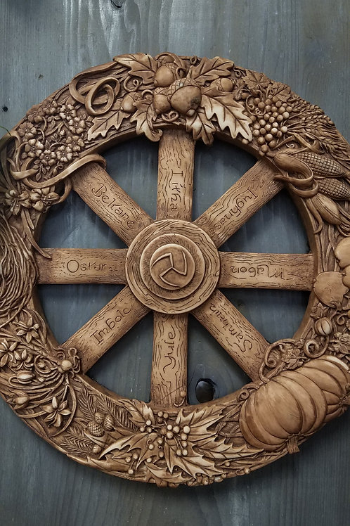 Pagan Wheel of the Year Terra Cotta Plaque