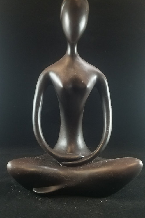 Brown Yogi Statue