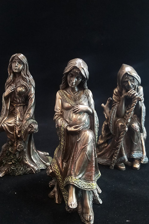 Wiccan Mother, Maiden, Crone Statue Set