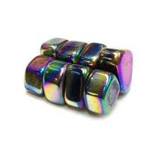 Magnetic Rainbow Hematite (Tumbled)