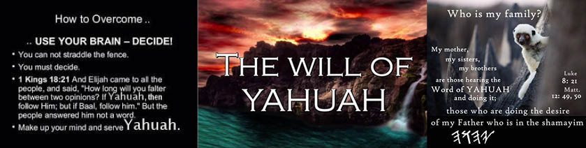 The Will of Yahuah