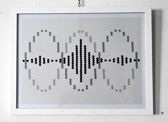 Fibonacci - Klebepunkte auf Transparent