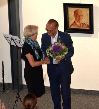 Landrat Dr. Fritz Brechtel und Brigitte Sommer