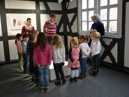 Kinder der Kindertagesstätte Albertino Jockgrim im Zehnthaus