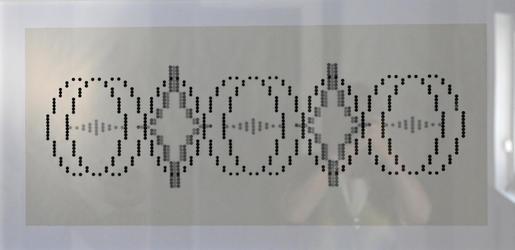 Fibonacci - Klebepunkte auf Transparentpapier