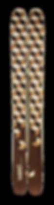 Hihihi - Exempe de skis personnalisés en bois