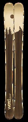 Exemple de Ski personnalisé en boi - Technologie WoodSpirit