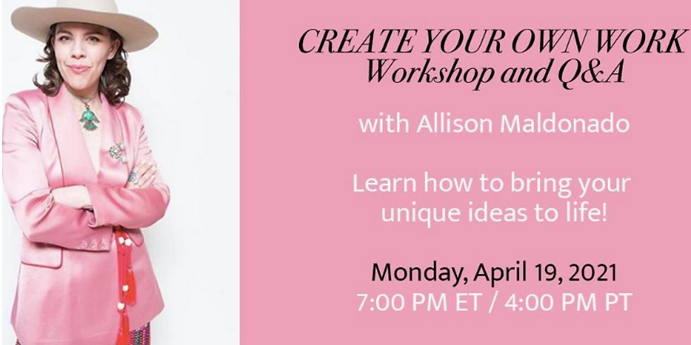 Create Your Own Work Workshop for AMDA Alumni