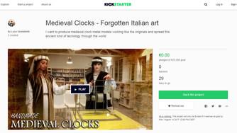 L'orologio medievale su Kickstarter.com!!