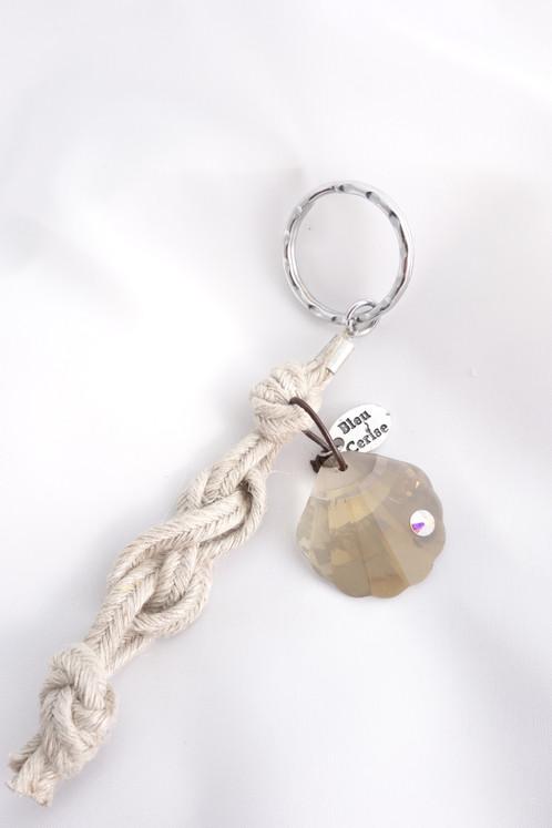 Porte Clé Coquillage Bijoux Fantaisie De Créateur Pièces Uniques - Porte clé swarovski