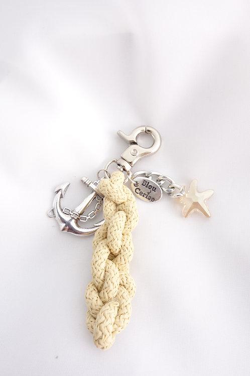 Porte clé étoile de mer et ancre
